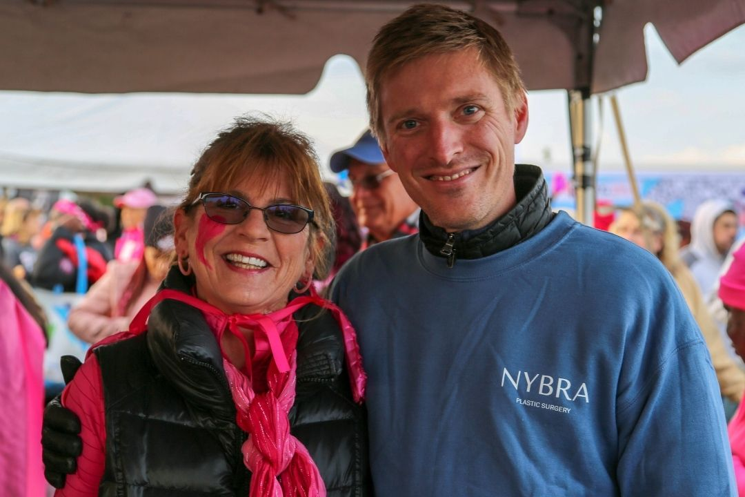 Dr. Korn and patient at Making Strides of Long Island 2019