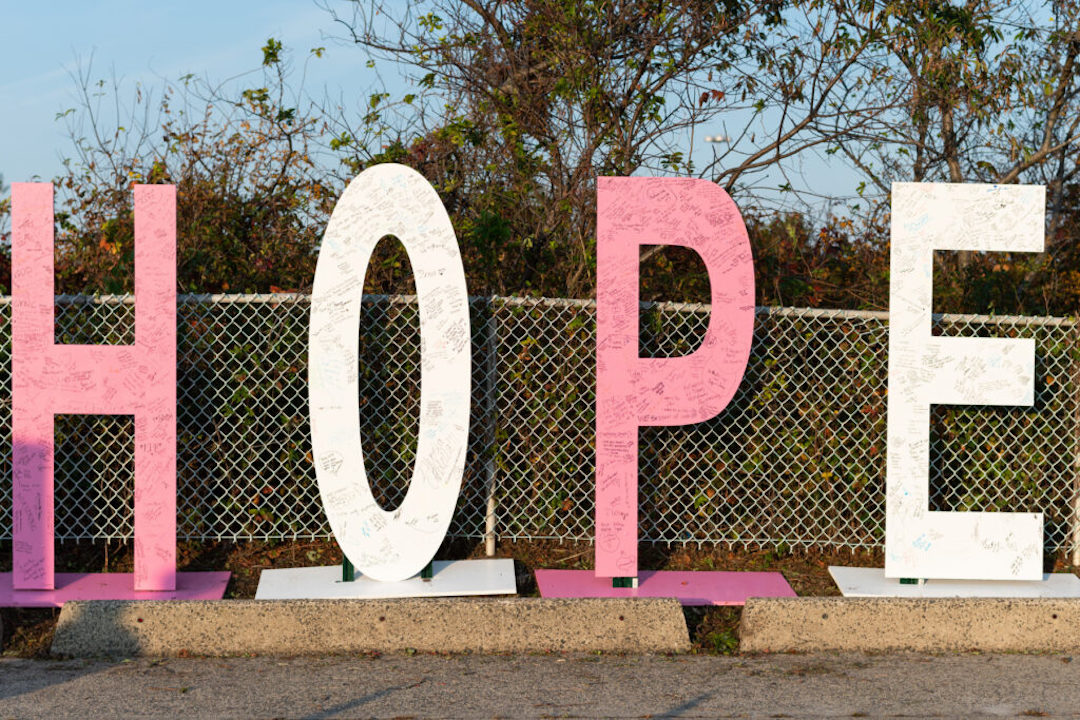 HOPE sign at Making Strides Drive Through Event 2020