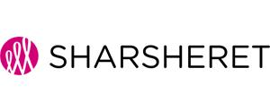 SHARSHERET logo: Pink circular design with text SHARSHERET.