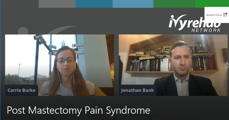 Screenshot of Livestream event with Dr. Jonathan Bank on BreastRelief