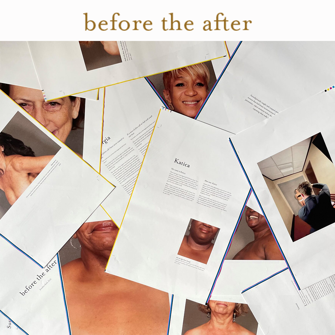 scattering of pages from Before the After
