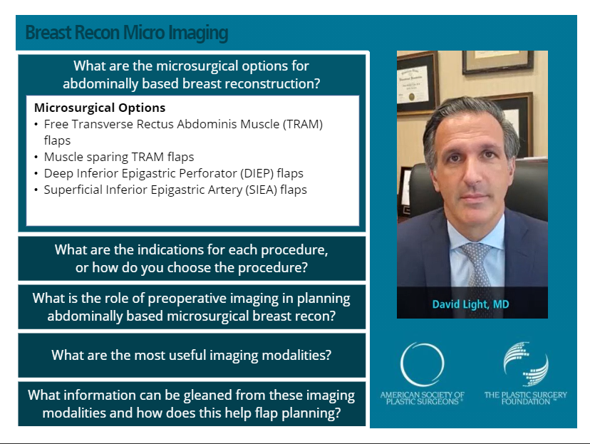 phot of Dr. David Light in screenshot of video presentation for ASPS