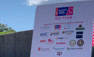 Photo of Making Strides Sponsors at the Go Pink Long Island event to kick off Breast Cancer Awareness Month on Oct. 1, 2021