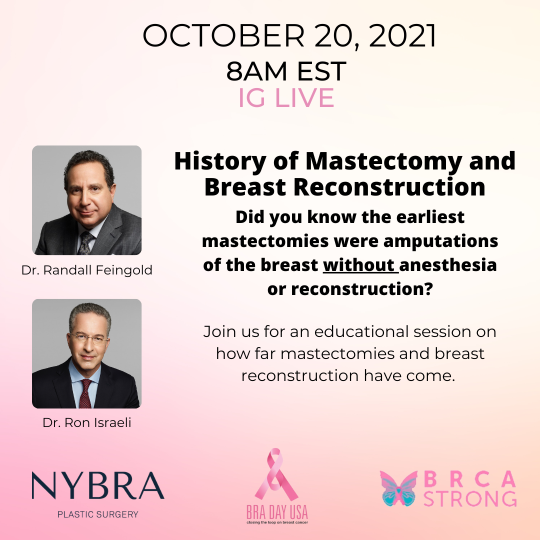 BRA Day event Dr. Feingold and Dr. Israeli speak on History of Mastectomy and Breast Reconstruction