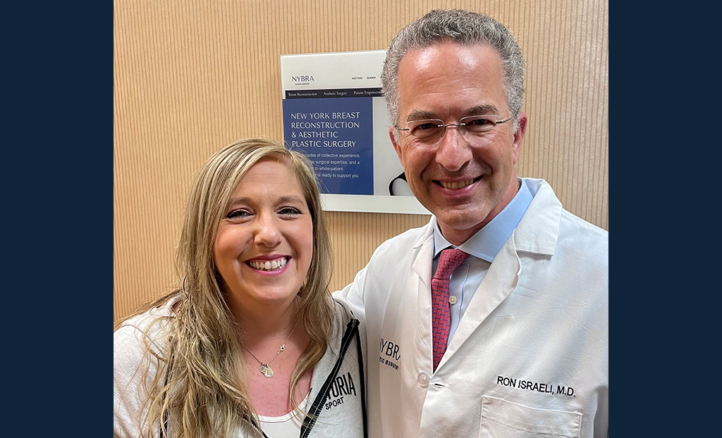 Dr. Ron Israeli and Laurie pose for a photo